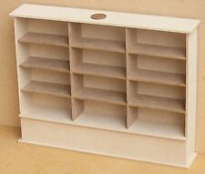 1:12 Scale Flat Pack MDF Wooden Triple Shelf Unit Dolls House Shop Furniture