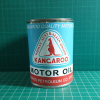 VINTAGE REPLICA KANGAROO MOTOR OIL TIN CAN REPRODUCTION TIN CANS DISPLAY PROPS