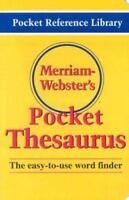 Merriam-Webster's Pocket Thesaurus: By Merriam-Webster