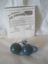 Vintage Clacker Balls - Original Ker-Knockers Toy - USA - NOS - Dark Blue/Green