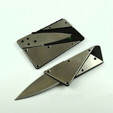 Stainless steel Portable Credit Card Thin Cardsharp Wallet Folding Pocket Knife