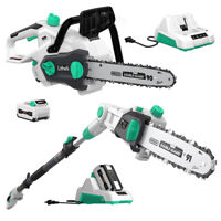 """LiTHELi 40V Cordless Pole saws+14"""" Chainsaw w/2.5AH Battery & Charger"""