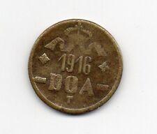 D.O.A.TANGANYIKA 1916 EMERGENCY TABORA  TWENTY HELLER BRASS COIN TYPE B-B DOA118