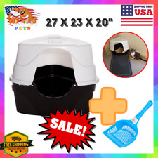 Cat Litter Box Pan Jumbo Xl Large Enclosed Hooded Covered Kitty House With Scoop