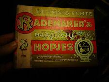 Ancienne Boite Carton Chocolat Cigogne RADEMAKER'S Haagsche Hopjes Holland
