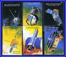 Antigua = Space Satélites x6 Sellos MNH**
