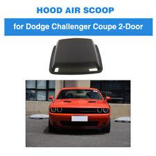 Carbon Fiber Hood Vent Air Flow Intake Scoop Cover For Dodge Challenger 15-19