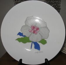 """ROSENTHAL painted STUDIO LINIE flower plate  Wolf Bauer GERMANY 9"""" RARE"""