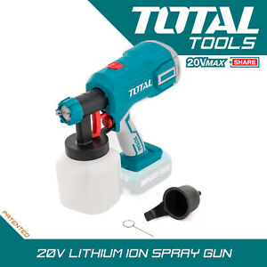 Cordless Paint Spray Gun 20v High Pressure Lightweight Design 40 Dins Body Only