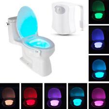 Lumière de nuit toilette salle de bain 8 LED détecteur de mouvement motion activ