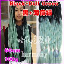"24"" Ombre Kanekalon Jumbo Braiding Synthetic Hair Extension Twist Braids 100g"