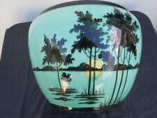 Cache pot décor provençal coucher de soleil stylisé Orchies France