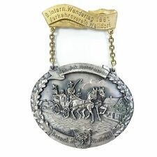 Vintage German WANDERTAG 1981 Medal Medallion Joh Jak VERKEHRSVEREIN WALLDORF