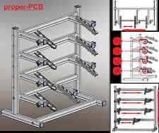 Proper PCB 4000 Leiterplattenhalter für 4 LP, Bestückungsrahmen PRINTHALTER