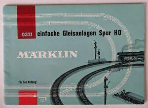 Marklin Model Train Layout Book Catalog einfache Gleisanlagen Spur HO