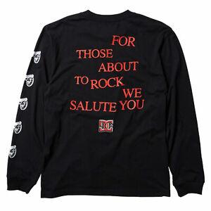 DC Shoes x AC/DC Men's About To Rock Long Sleeve T Shirt Black Clothing Appar