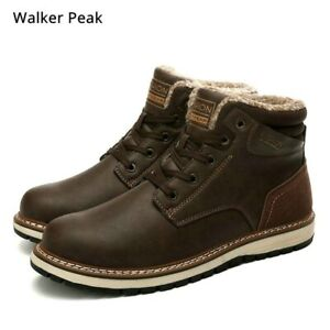 Men Shoes Male Footwear Rubber Warm Ankle Snow Boots For Men Pu Leather