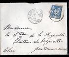ARNAY-LE-DUC (21) ENVELOPPE Oblitération postale en 1899 par DUN-sur-AURON (18)