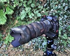 Fuji 50 140mm f2.8 Neoprene Lens Camouflage Protection Cover : Moss camo Premium