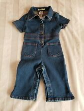 2001 Boys Girls Baby Gap Coveralls Denim Dark Blue Jean Romper 12 18 Months Nwt