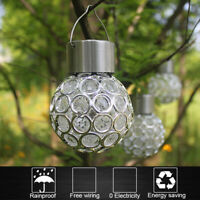 Solar Waterproof Rotatable Outdoor Garden Camping Hanging LED Round Ball Lights