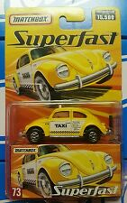 Matchbox Superfast Volkswagen Beetle Taxi Cab 1 of 15500