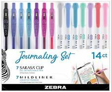 14 Count, Zebra Pen Journaling Set NEW