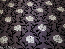 3.5 Mtrs of Cordelia Aubergine Fryetts Fabric  Floral End Of Roll (s/e117)