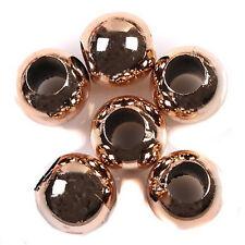 35x New Arrive Rose Gold Charm Acrylic Beads 15mm Fit European Bracelets DIY BS