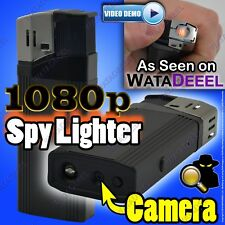 GENUINE 1080p Tekwarr Lighter Spy Camera VIBRATION INDICATOR Lights Cigarettes!
