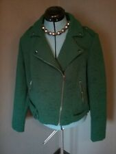 42f9a139dc6 TORRID 0 Jacket Top Moto Forest Green Lined Textured Biker NWT