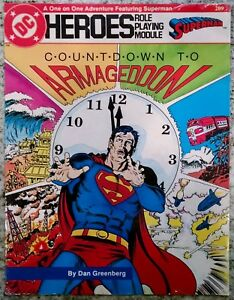 NEW DC Heroes Countdown to Armageddon Mayfair Games Role Playing  209 Superman