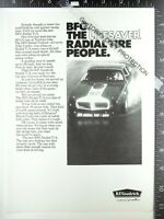 2) ADVERTISEMENTS 1971 Audi & B. F. Goodrich Radial T/A tire Firebird ad 1970