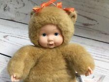 Anne Geddes Teddy Bear Plush Baby Doll Tan 8 Inches 2001