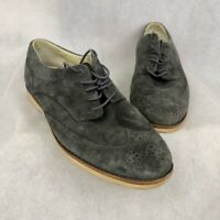 Timberland Abington Mens Oxfords Shoes Gray Suede Leather Lace Up Wingtip 11 M
