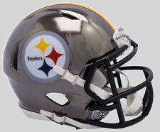 PITTSBURGH STEELERS NFL Riddell SPEED Mini Football Helmet CHROME