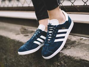 Genuine Adidas Gazelle originals Classic Navy/White Trainers Shoes  size 4 bnib