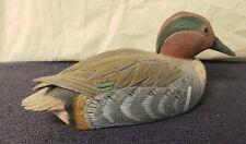 Carved Wood Duck ,  Miniature Decoy Tim Hynes 1980