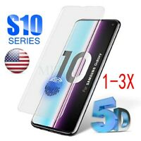 For Samsung Galaxy S10 Plus 9H Full Cover Tempered Glass Screen Protector /En