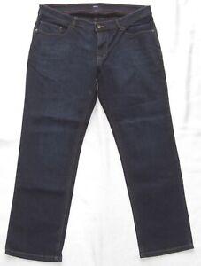 HATTRIC HARDY Herren stretch Slim Übergröße Jeans Hose W38 L30 Dunkelblau NEU
