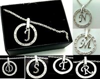 Letter Initial Bracelet Sliver Diamante Avon Sliver Plated Jewellery Gift