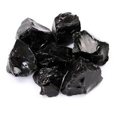 225g Natural Rough Stone Black Obsidian Mineral Quartz Crystal Healing Crafts