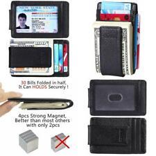 NEW Front Pocket Wallet Money Clip Credit Card Slots Slim Holder Strong Magnet