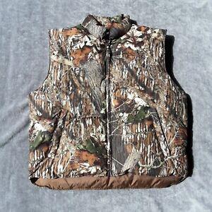Gamehide Down Vest Camo Hunting Vest Puffer Vest Men's Size XL Style 103 Pockets