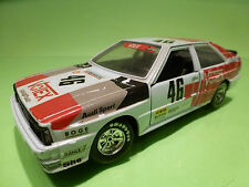 BBURAGO 0159 AUDI QUATTRO - RALLY No 46 1:24 - RARE SELTEN - GOOD CONDITION