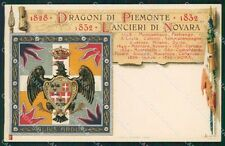 Militari V Reggimento Lancieri di Novara Dragoni Piemonte cartolina XF2109