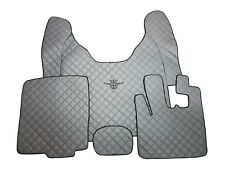 Set of GREY Floor Mats Covers For DAF XF 105 AUTOMAT RIGHT HANDDrive Eco Leather