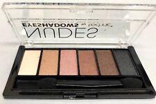 Technic 6 Shades Blendable Eyeshadow Palette Shimmer Matte Brush Smokey Eye Nudes