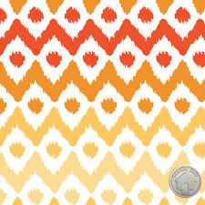 Camelot Fabrics Spectrum Ikat Chamomile Orange Ombre Chevron Dots Cotton Fabric