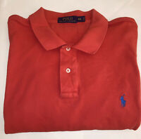 Polo Ralph Lauren Men's Red  Blue Pony Golf Shirt Size 2XXL